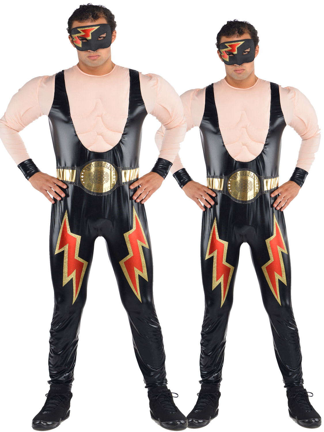 Mens wrestler costume adult wwe wwf wrestling fighter fancy dress transform yourself into a wwe champion with this wrestler costume ideal for a themed party freshers or new years eve solutioingenieria