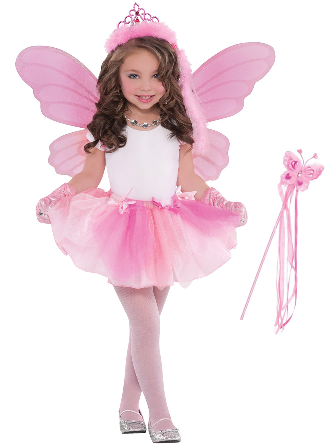 Details about Girls Pink Fairy Costume Childs Fairytale Magic Fancy Dress  Outfit Accessories