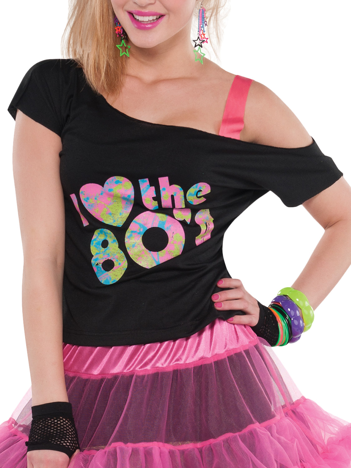 6635d118c01 I Love The 80s Off The Shoulder Plus Size Shirt