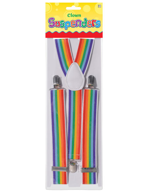 Adults Clown Rainbow Braces