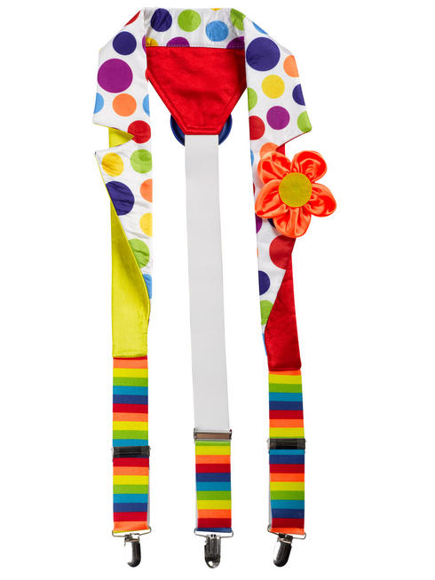 Adults Clown Deluxe Suspenders