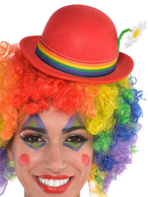 Adults Clown Mini Derby Hat