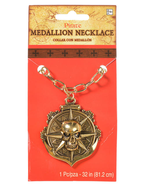 Adults Pirate Medallion Necklace