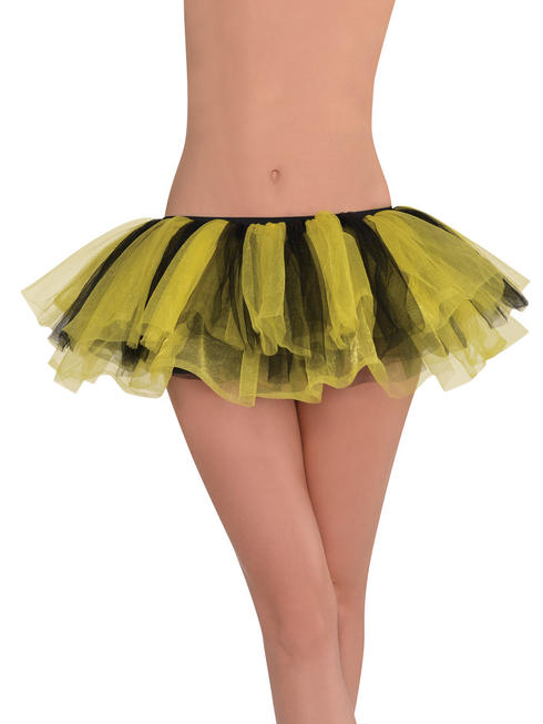 Ladies Black & Yellow Shimmer Tutu
