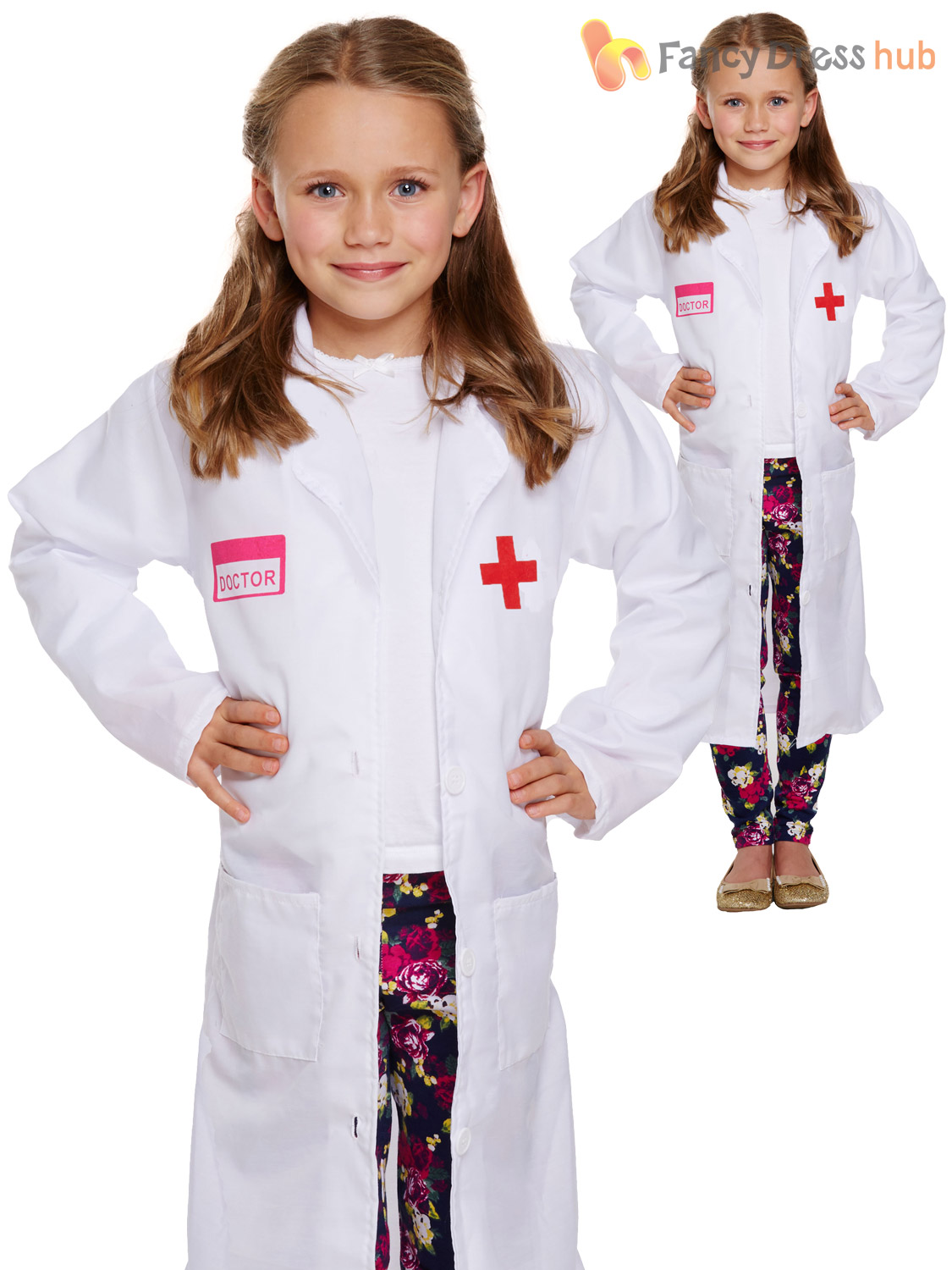 Girls-Doctor-Coat-Childs-Drs-Fancy-Dress-Costume-  sc 1 st  eBay : girls doctor costume  - Germanpascual.Com
