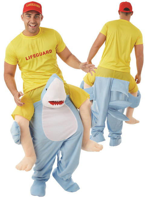 Adult's Shark Piggy Back Costume