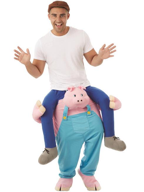 Adult's Pig Piggy Back Costume