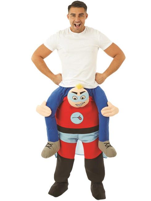 Adult's Comedy Hero Piggy Back Costume