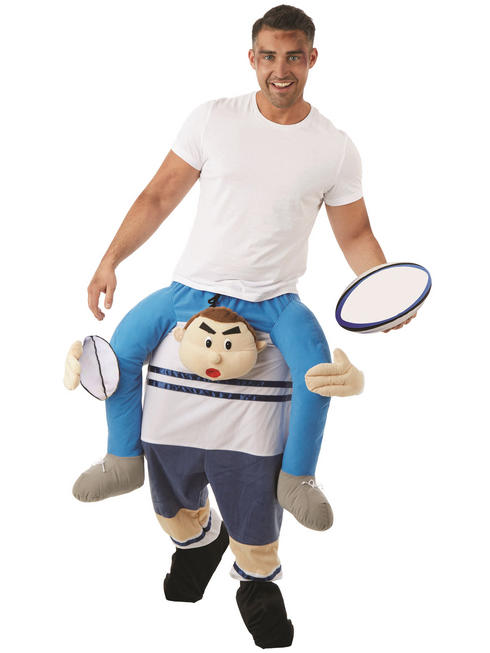 Adult's Rugby Player Piggy Back Costume