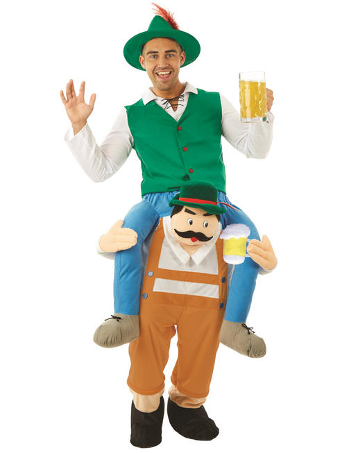 Adult's Beer Man Piggy Back Costume