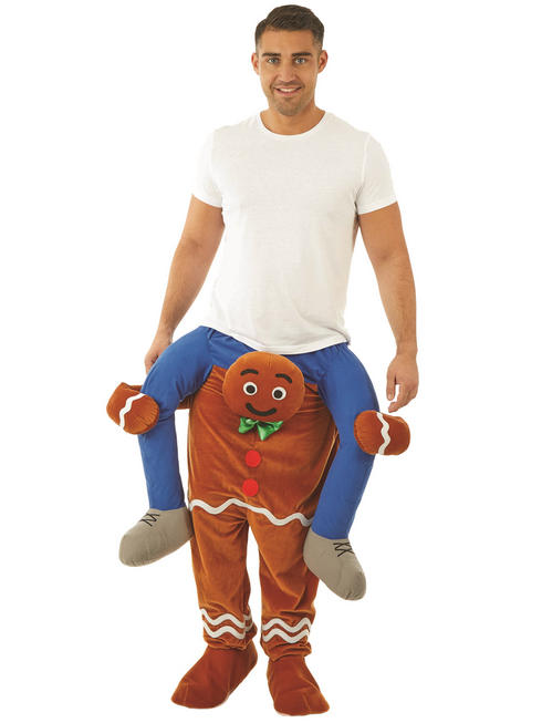 Adult's Gingerbread Man Piggy Back Costume
