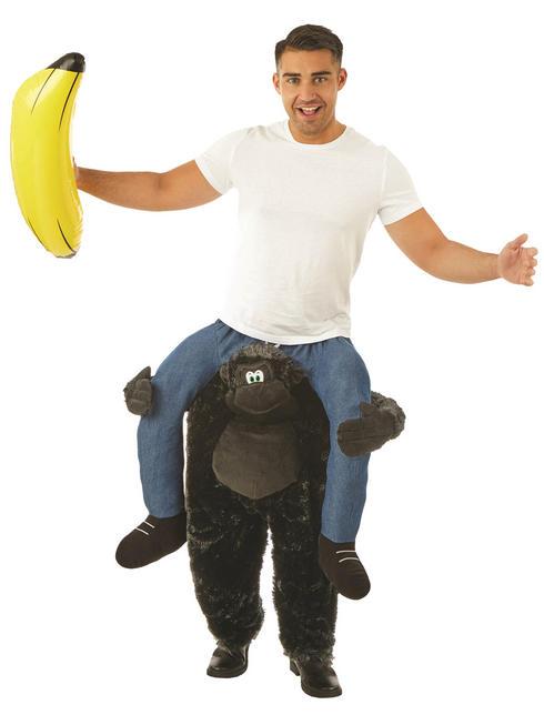 Adult's Gorilla Piggy Back Costume