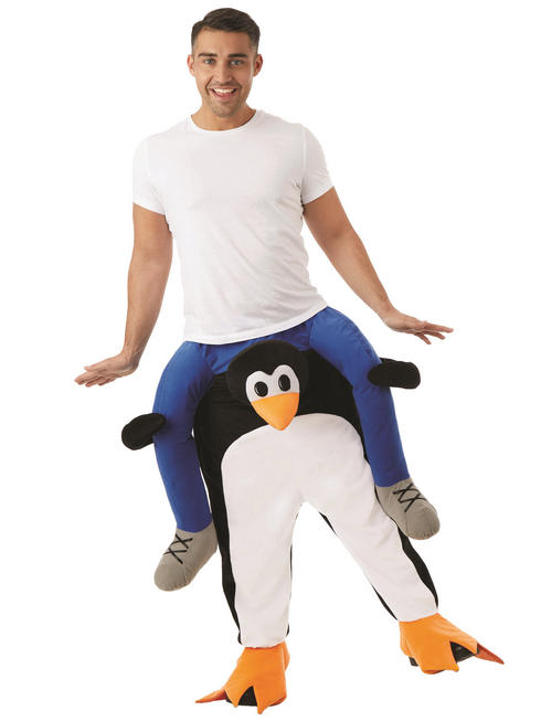 Adult's Penguin Piggy Back Costume