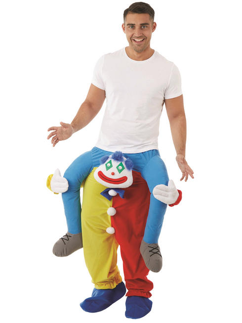 Adult's Clown Piggy Back Costume