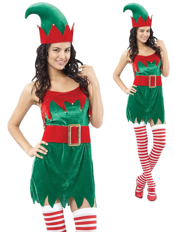 Ladies elf costume adults santas helper fancy dress womens transform yourself into santas little helper with this ladies elf costume a perfect way to get into the christmas spirit solutioingenieria Choice Image