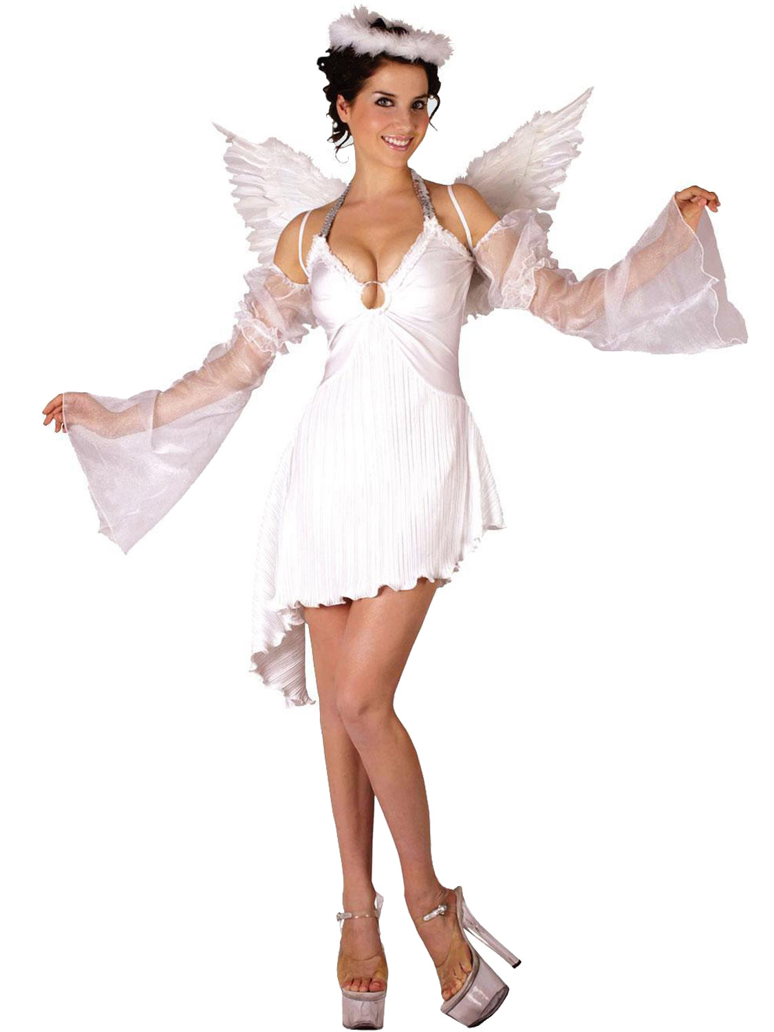 Ladies angel costume adults christmas fancy dress womens xmas transform yourself into an angel with this ladies xmas nativity costume a perfect way to get into the holiday spirit solutioingenieria Gallery