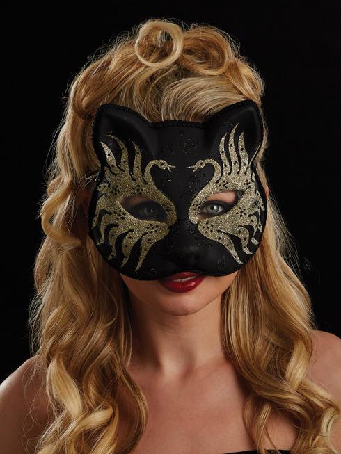 Black, Gold & Silver Carissa Eye Mask