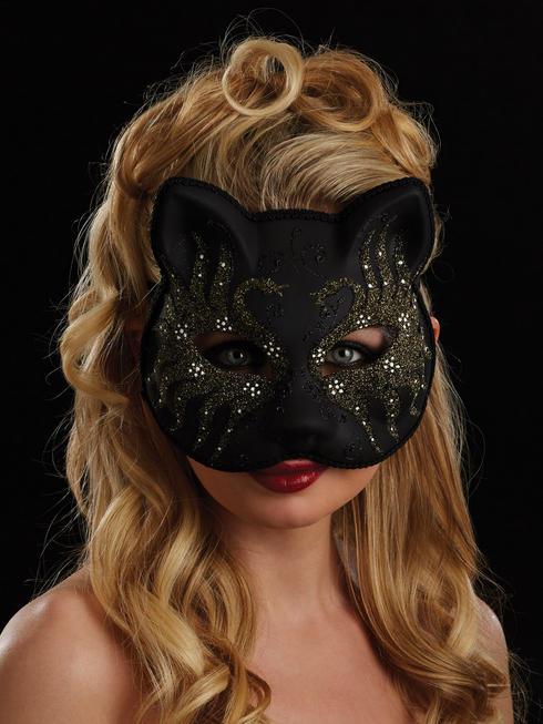 Black, Gold & White Carissa Eye Mask