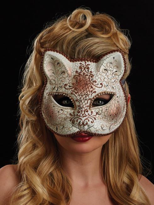 White & Bronze Grazia Eye Mask