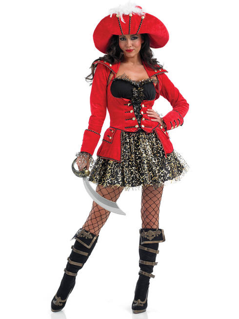 Ladies Glitzy Pirate Costume