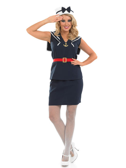Ladies Pin Up Sailor Girl Costume
