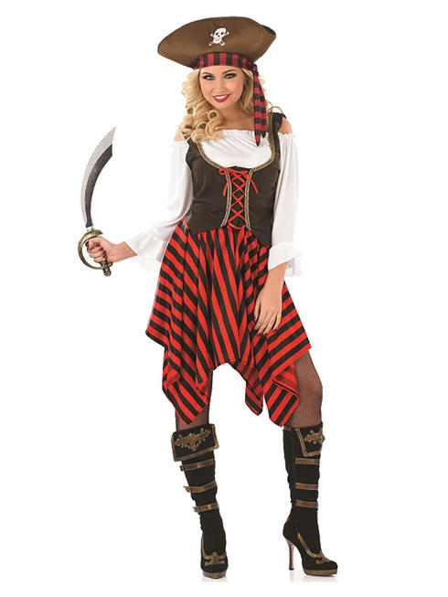 Ladies Pirate Girl Costume