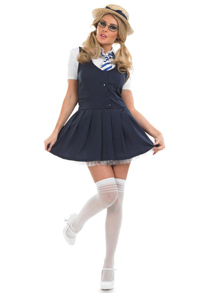 Ladies School Girl Tutu Dress Costume