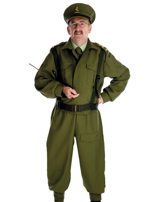 Men's British Homeguard Soldier Costume