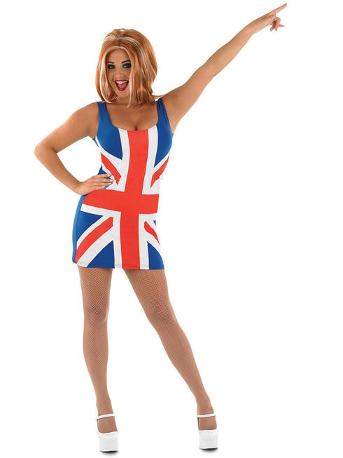 Ladies Union Jack Dress Costume