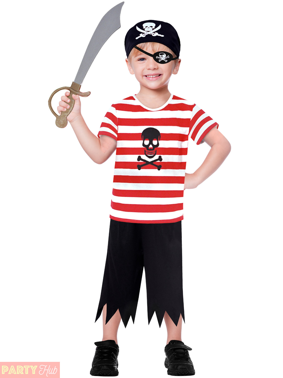 Childs-Toddlers-Pirate-Costume-Boys-Captain-Hook-Buccaneer-  sc 1 st  eBay & Childs Toddlers Pirate Costume Boys Captain Hook Buccaneer Fancy ...