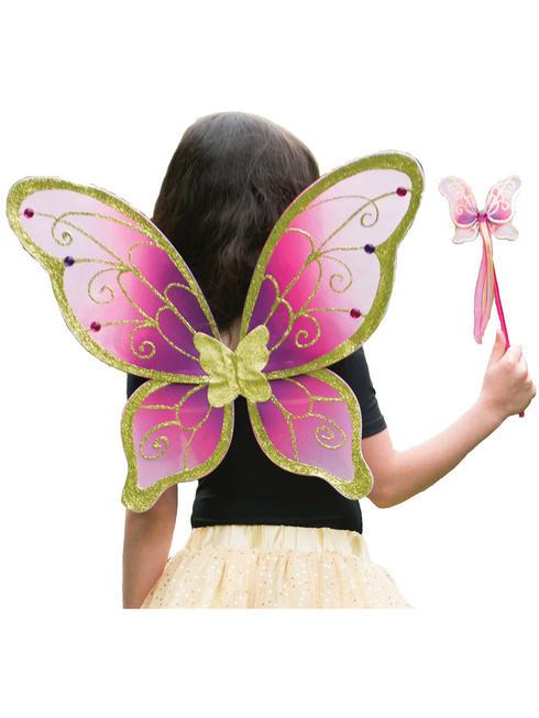 Girl's Travis Designs Fairy Set - Cerise / Gold Set