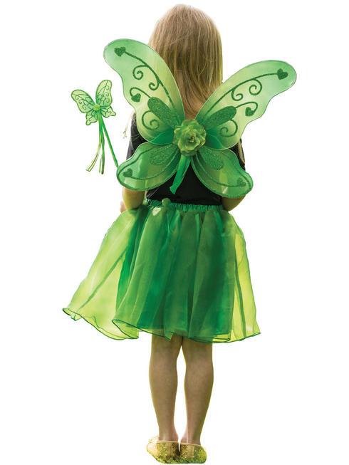 Girl's Green Sparkle Fairy Set