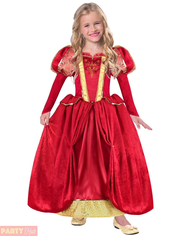 Girls Princess Costume Childs Fairytale Tudor Medieval Historical ...