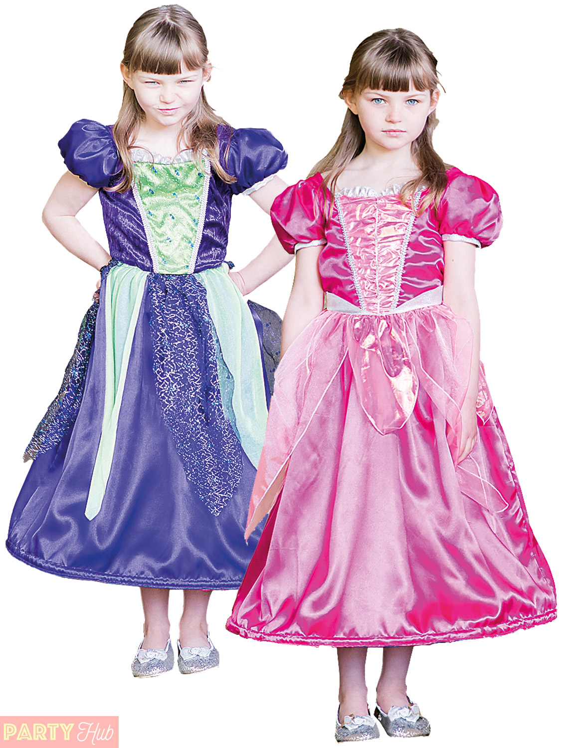 Childs Girls Reversible Costume Princess Pirate Witch Bride 2 in 1 ...
