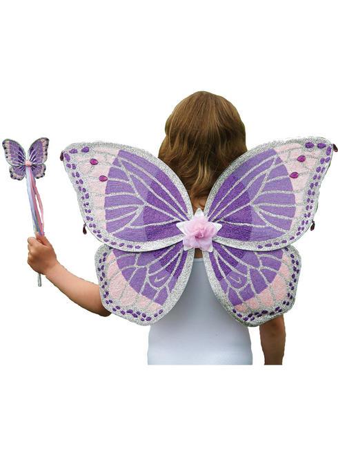 Girl's Travis Designs Fairy Set - Purple Glitter Set