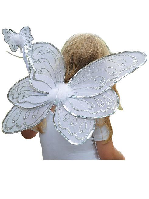 Girl's Travis Designs Fairy Set - Silver / White Set