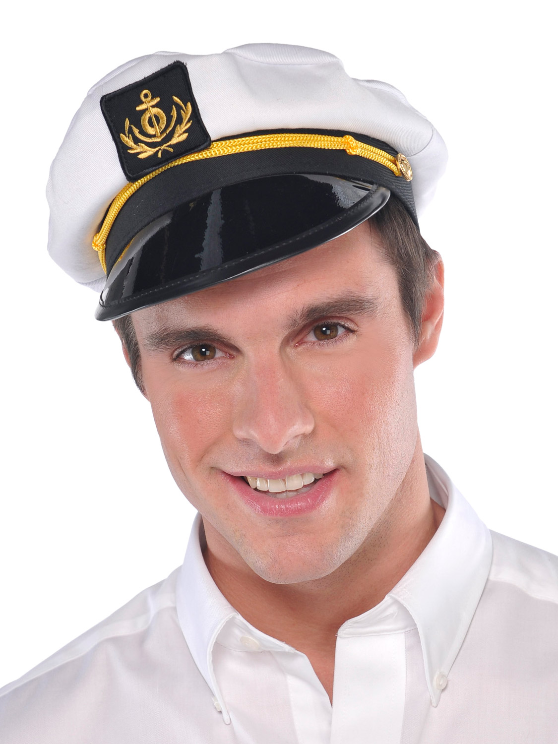 Details about Adults Skipper Hat Mens Ladies Sailor Captain Fancy Dress  Costume Accessory b14805c4654d