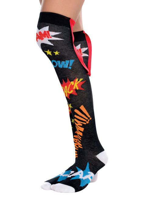Ladies Superhero Knee High Socks