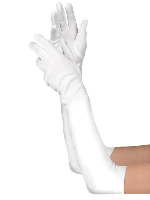 Ladies Long White Gloves
