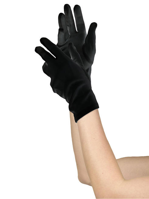 Ladies Short Black Gloves
