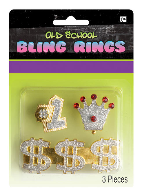 Adult's Hip Hop Bling Rings