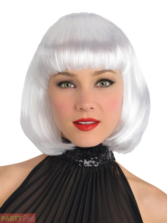 Ladies Bob Wig Womens Halloween Witch Cleopatra Fancy