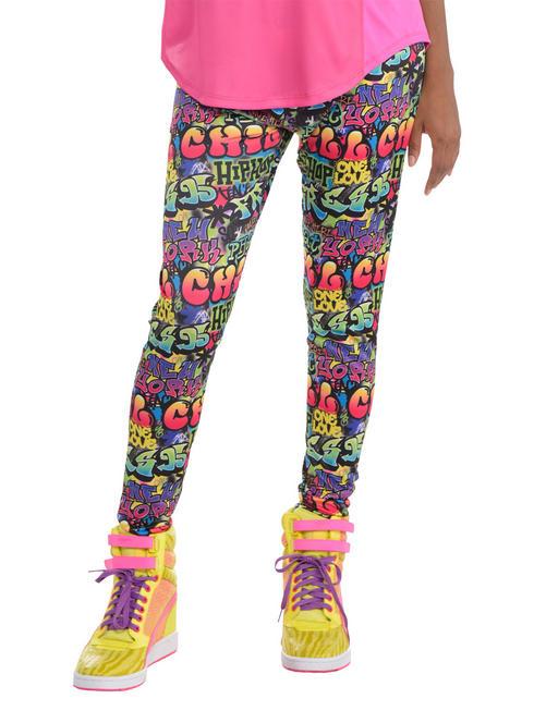 Ladies Hip Hop Graffiti Leggings