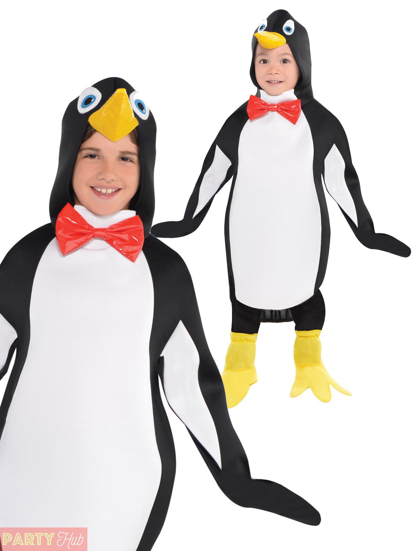 Childs Penguin Costume Boys Girls Christmas Animal Bird Fancy Dress ... e07bdffe9