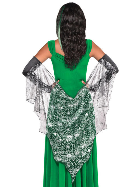 Adult's Spider Web Witch Cape with Gloves