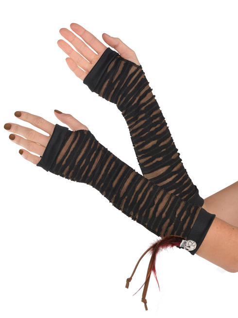 Adult's Witch Doctor Fingerless Gloves