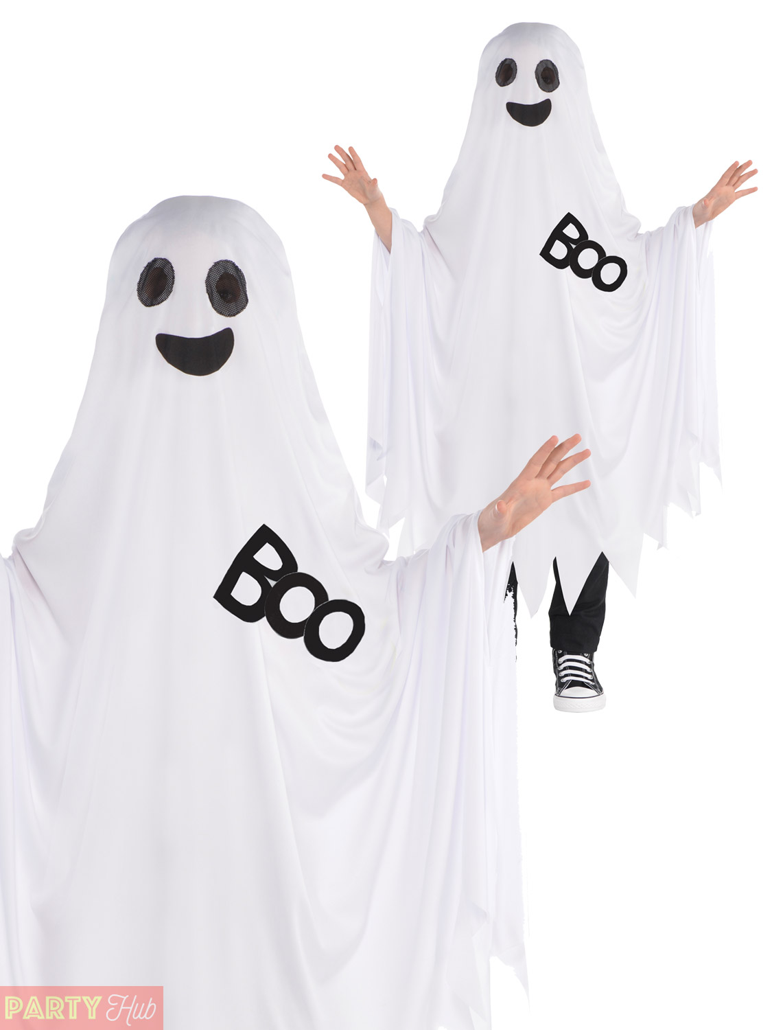 Childs-Ghost-Costume-Boys-Girls-Ghastly-Ghoul-Fancy-  sc 1 st  eBay & Childs Ghost Costume Boys Girls Ghastly Ghoul Fancy Dress Outfit ...