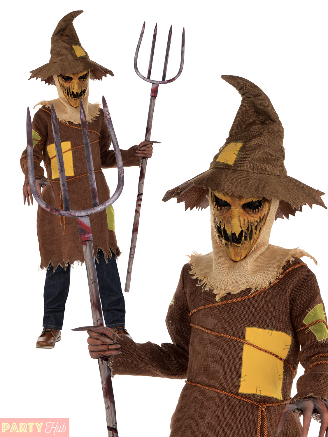 Boys-Scary-Scarecrow-Costume-Child-Teen-Horror-Halloween-Fancy-Dress-Outfit