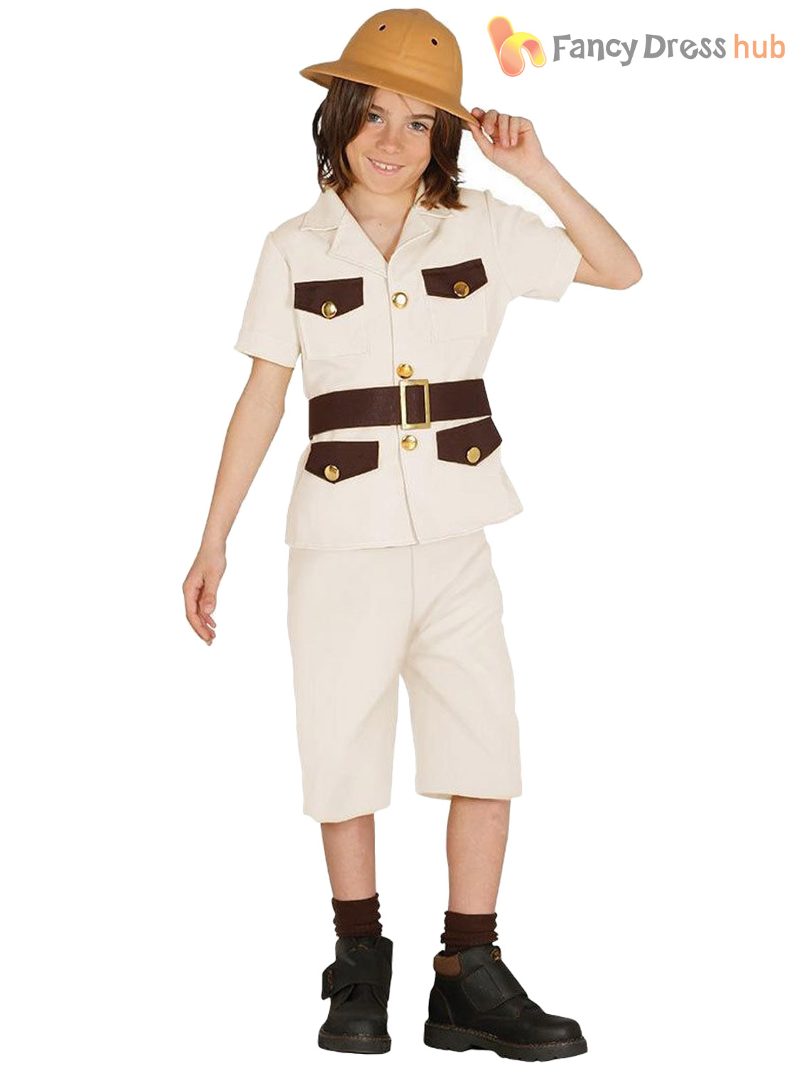 Boys-Safari-Explorer-Costume-Childs-Jungle-Zoo-Keeper-  sc 1 st  eBay & Boys Safari Explorer Costume Childs Jungle Zoo Keeper Fancy Dress ...