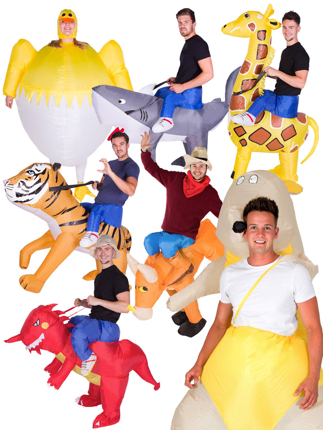 Adults inflatable animal costume mens ladies ride on fancy dress look like your riding an animal or transform yourself into a giant one with these adults inflatable costumes perfect for a stag or hen party solutioingenieria Choice Image